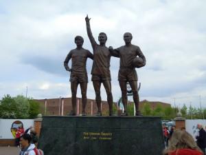 George Best, Denis Law and Sir Bobby Charlton