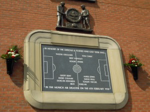 Plaque commemorating the Munich Air Disaster