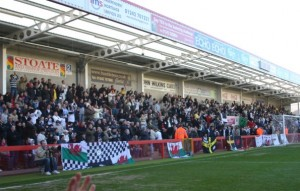 Swansea fans at Cheltenham