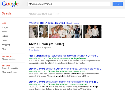 Steven Gerrard and Alex Curran Married