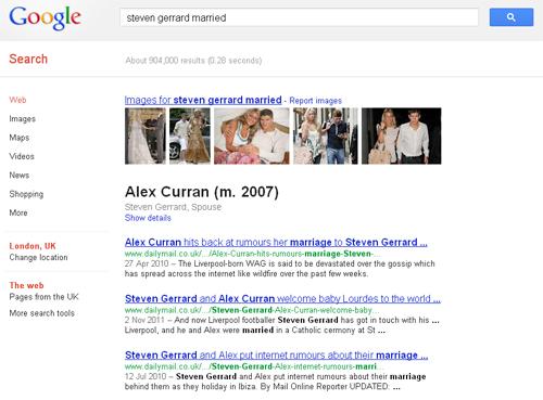 Steven Gerrard and Alex Curran Married