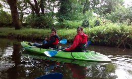 kayaking on Swansea Canal