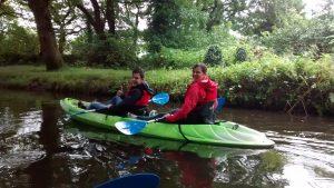 kayaking on Swansea Canal